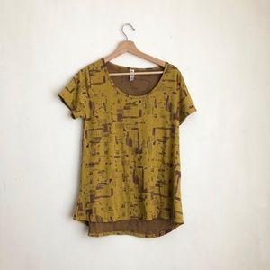 Lularoe mustard blouse slip on small casual